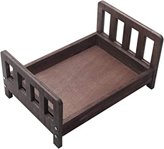 Baby Photography Props Wooden Bed, Detachable Cot Newborn Photo Shoot Posing Furniture Background, Newborns Doll Bed for P...