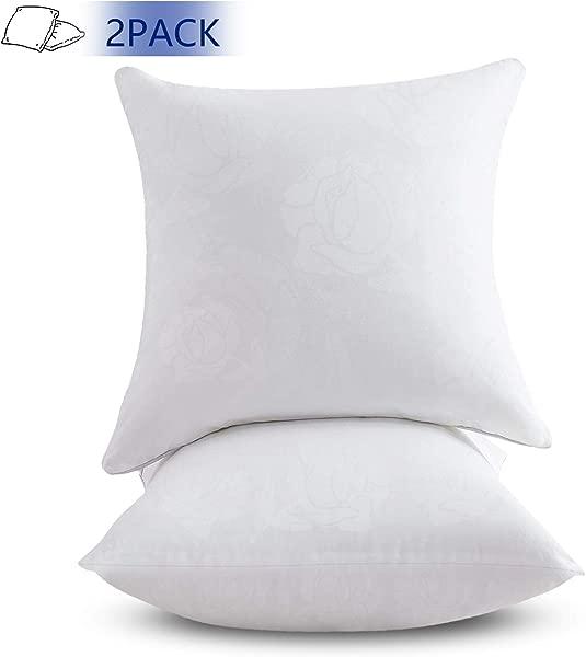 Emolli 18 X 18 Pillow Inserts Set Of 2 Throw Pillow Inserts Premium Stuffer Down Alternative Super Soft Microfiber Filled Decorative Pillow Cushion