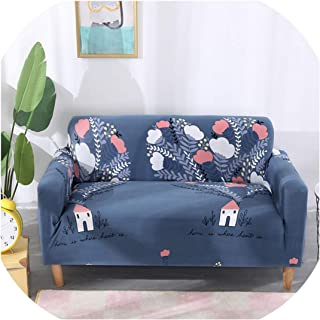 Xinny Stretch Sofa Slipcover Elastic Single/Loveseat/Three/Four Seat Couch Cover Sofa Cover for Living Room Armchair Protector,Color 20,1-seat 90-140cm