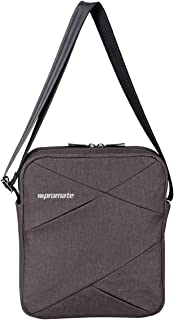 Promate Laptop Messenger Bag,Water Resistance Laptop Messenger Bag Up to 9.7 Inch with Tablet Pocket,Tablets,Document,Trench-S Brown