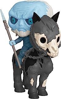 Funko Pop. Rides: Juego de Tronos - Glow in The Dark White Walker and Horse, Amazon Exclusive