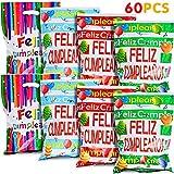 Fabu 60 PCS Bolsas de Regalo para Fiestas, Bolsas Regalo Cumpleaños, Bolsas Plástico para Regalos Cumpleaños Fiestas Festival