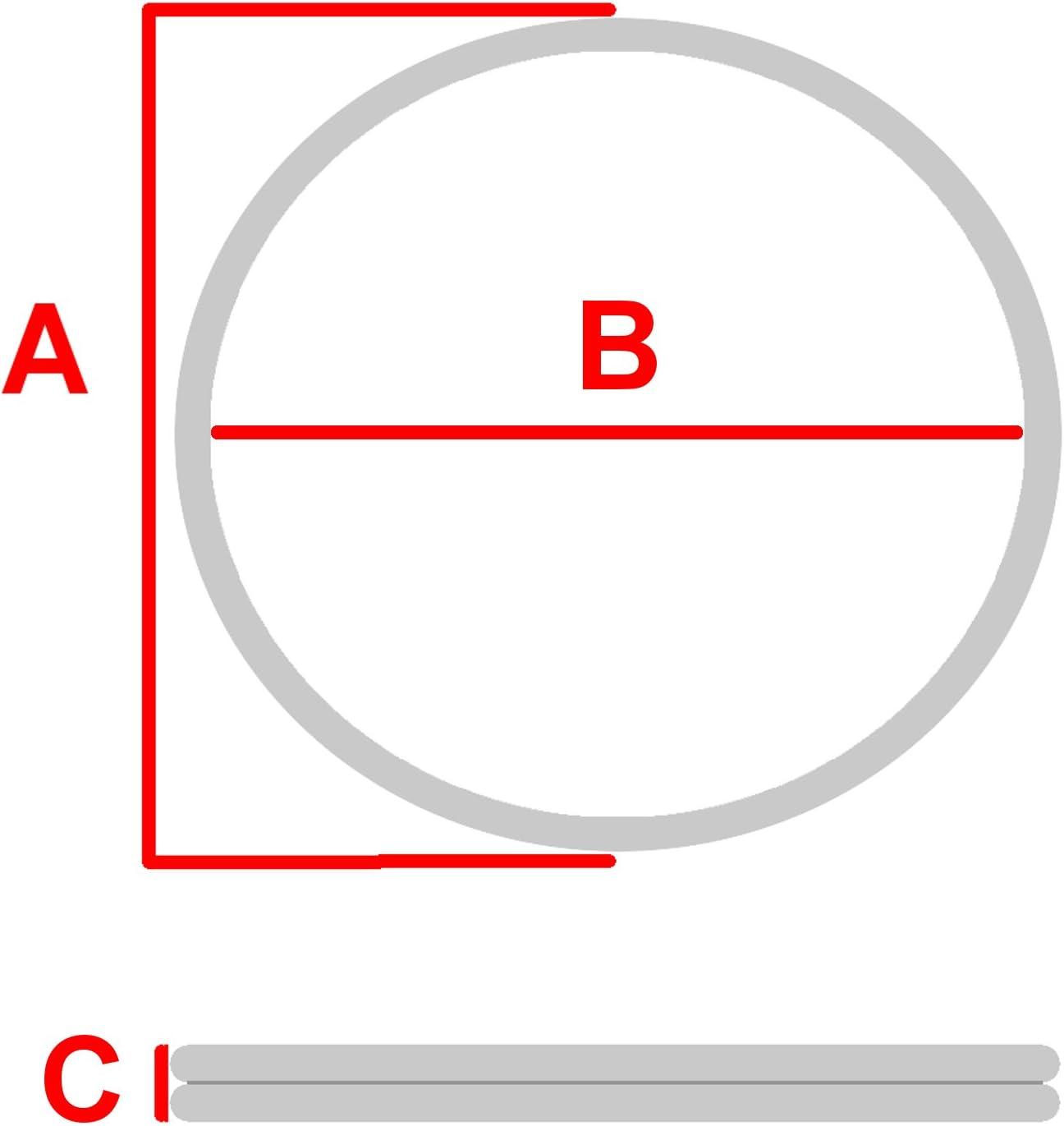 BIG-SAM 80021 10 mm hasta 50 mm, 5, 10, 25, 50 o 100 unidades Anillos para llaves