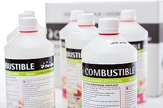 Purline Combustible De Origen Natural Repele Mosquitos Con Citronela 12 Botellas 1L