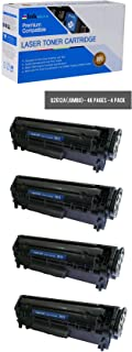 Inksters Compatible Toner Cartridge Replacement for HP 12A (Q2612A)(J) Jumbo Yield Black - Compatible with Laserjet 1010 1012 1015 1018 1020 1022 1022n 1022nw 3015 3020 3030 3050 3052 3055 (4 Pack)