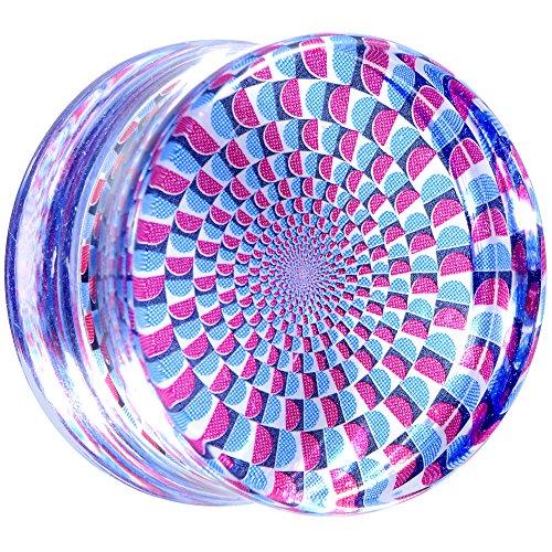 BodyCandy Acrílico Transparente Ilusión Óptica Silla Oreja Medidor Enchufe (1 Pieza) 20mm