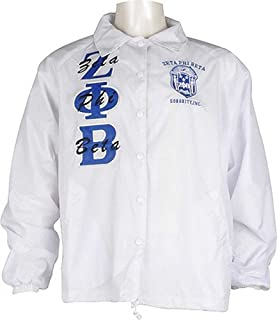 Buffalo Dallas Zeta Phi Beta Crest Ladies Crossing Line Jacket [White - S]