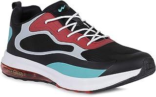 Campus Men's Black & Teal Blue Running Shoe - 8 UK