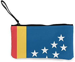 Flag Of Durham Zipper Canvas Coin Purse Wallet, Make Up Bag,Cellphone Bag With Handle