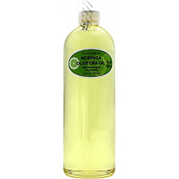 Organic Pure Carrier Oils Cold Pressed 16 Oz/1 Pint (Moringa Oil)