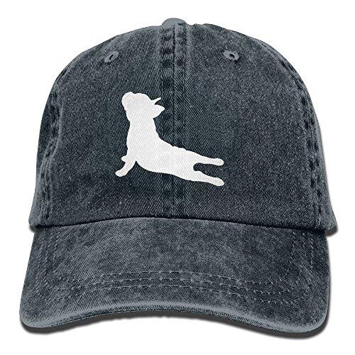 French Bulldog Yoga Baseball Hat Men and Women Summer Sun Hat Travel Sunscreen Cap Fishing Outdoors Navy