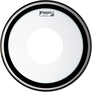 Aquarian HE12 Hi-Energy Aquarian HE12 Hi-Energy with Power Dot Snare Drum Head, Clear, 12-Inch Diameter, 12 Inches