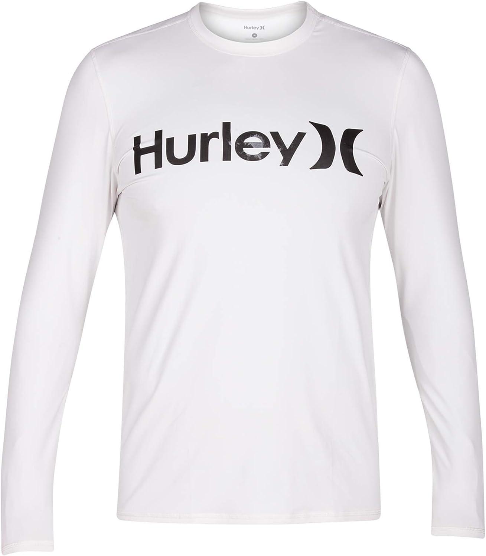 Hurley Mens One /& Only Long Sleeve Sun Protection Rashguard
