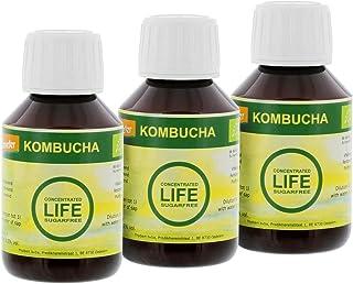3 botellas de 100 ml Kombucha concentrada sin azúcar,