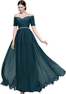 Lily Wedding Womens Beaded Off Shoulder Prom Bridesmaid Dress 2019 Long Aline Evening Formal Gown TB32