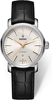 Rado DiaMaster Automatic Silver Dial Women's Leather Watch