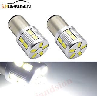 Ruiandsion 2pcs 1157 2057 2357 7528 BAY15D LED Bulbs 24V Super Bright White 5630 17SMD Chipsets LED Bulb Replacement for Back Up Reverse Lights