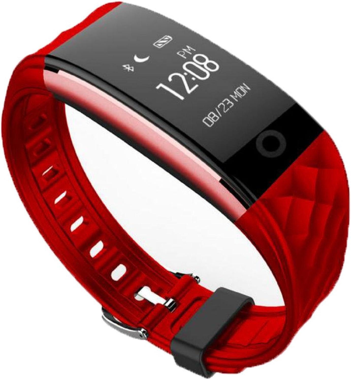 Heart Rate Sleep Test Step Wearable Calorie Sports Bracelet Waterproof Sedentary Reminder Electronic Bracelet,RedOneSize