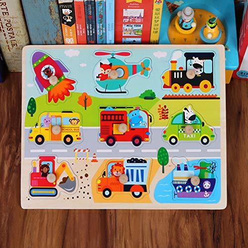 Metermall Home kinderen Puzzel Handgreep Houten speelgoed Alfabetnummers Dier Dinosaurus Oceaan Ruimtevervoer Groente Fruit Legpuzzel