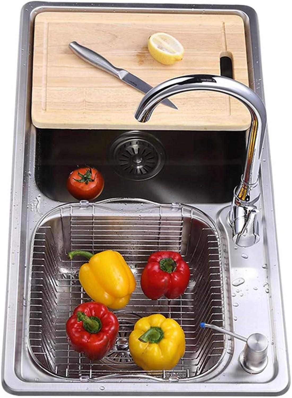 Küche Sink Edelstahl-Doppelschale über der Counter oder Sinks Gemüsewaschen Becken Thickness Sinchen Küche Multifunktionale Küche Sink