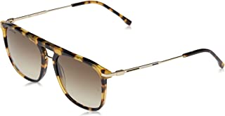 نظارة شمسية كاجوال انيقة بتصميم مستطيل للرجال من لاكوست - لون توكيو هافانا