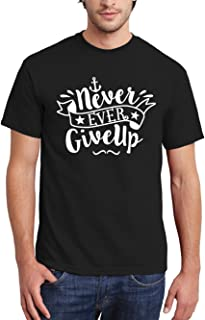 clothinx Herren T-Shirt Never Ever Give Up