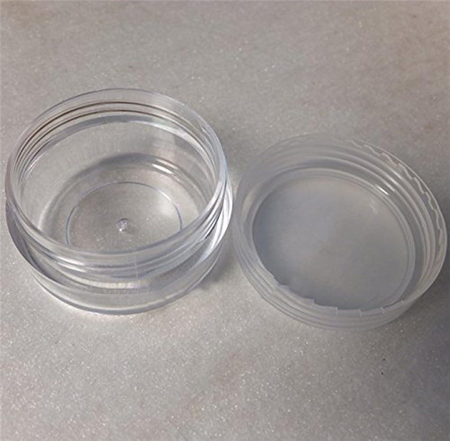 祭りジャンクションジャーナリストLautechco 旅行用 化粧品 小分け容器 クリームケース 詰め替え容器  透明 10g 50本セット