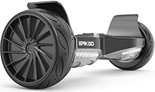 "EPIKGO Sport Balance Board Self Balance Scooter Hover Balancing Board -UL2272 Certified, All-Terrain 8.5"" Racing Wheels, 400W Dual-Motor,LG Smart Battery, Board Hover Over Tough Road Condition-Black"
