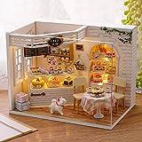 Kisoy Romantic and Cute Dollhouse Miniature DIY House Kit Creative...