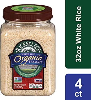 RiceSelect Organic Texmati White Rice, 32 Ounce (4 Count)