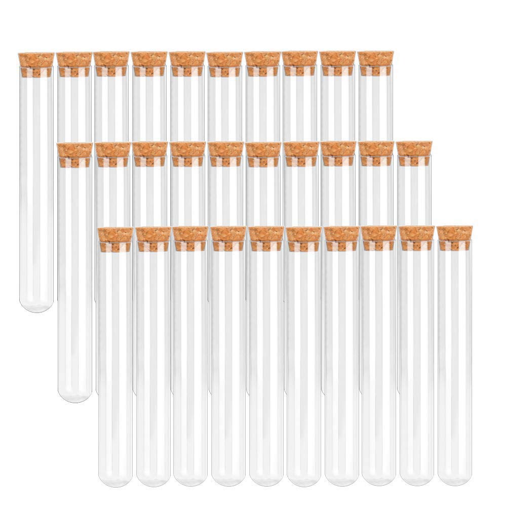 BTSD-home 20x150mm Plastic Test Tubes Max 44% OFF Cork Clearance SALE Limited time Stoppers Sci for with