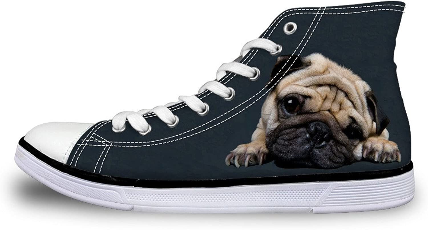 Showudesigns Outdoor Walking shoes Women High Top Canvas shoes Animal Design