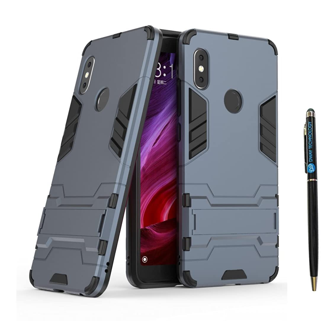 DWAYBOX Redmi Note 5 Pro Armor Case 2 in 1 Heavy Duty Armor Hard Back Case Cover with Kickstand for Xiaomi Redmi Note 5 Pro/Redmi Note 5 5.99 Inch (Black Plus Gray)