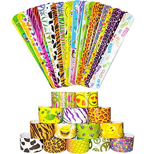LISOPO 24PCS Schnapparmband Geburtstag Schnapparmband Armband Mitgebsel Mitbringsel kleine Geschenke Spielzeug, Mitgebsel…