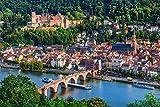 Heidelberg City Skyline Design XXL Wandbild Kunstdruck Foto