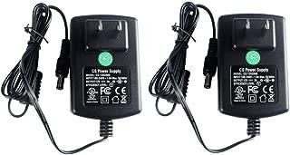 2 Packs AC Adapter DC 12V 2A Power Supply 5.5x2.1mm for CCTV Cameras DVR Strip LED UL Listed FCC