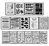 DUOUPA Zeichenschablonen Bullet Journal Schablone Set aus Kunststoff 15 Stück