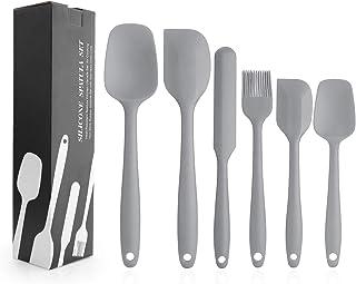 EKKONG Spatule Silicone de Cuisine Set de 6 Spatule en Silicone Résistant à la Chaleur pour Cuisiner Spatule Pâtisserie, C...