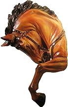 منحوتات جدارية من الراتينج الصناعي الصناعي لرأس الحصان معلقة على الحائط، منحوتات رأس حيوان ريترو في الحانة، قلادة زينة جدا...