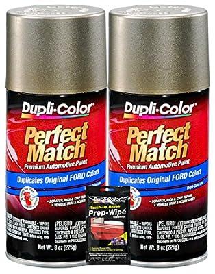 Dupli-Color Arizona Beige Exact-Match Automotive Paint for Ford Vehicles - 8 oz, Bundles with Prep Wipe (3 Items)