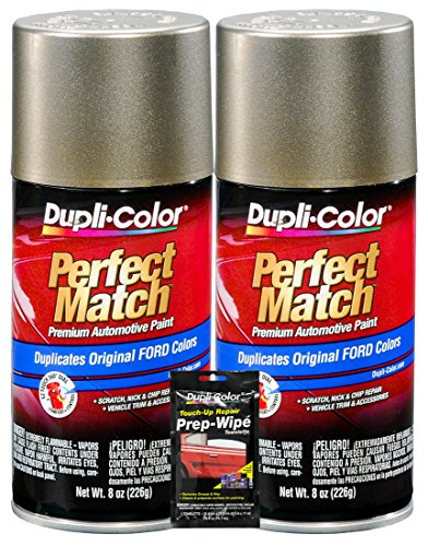 Dupli-Color Arizona Beige Exact-Match Automotive Paint for Ford Vehicles - 8 oz, Bundles with Prep Wipe (3 Items)