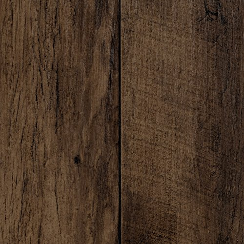 BODENMEISTER BM70518 Vinylboden PVC Bodenbelag Meterware 200, 300, 400 cm breit, Holzoptik Diele Eiche dunkel-braun
