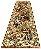 QIANCHENG-carpets Alfombra Pasillo 3D Corredor Alfombra de Paso Decoración del hogar Escalera Alfombra del Piso con Antideslizante Respaldo de Goma Alfombra de cabecera Lavable, Tamaño 65