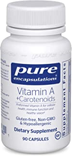 Pure Encapsulations - Vitamin A + Carotenoids (Lutein, Zeaxanthin, and Astaxanthin) - Hypoallergenic Dietary Supplement - ...