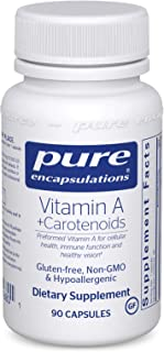 Pure Encapsulations - Vitamin A + Carotenoids (Lutein, Zeaxanthin, and Astaxanthin) - Hypoallergenic Dietary Supplement - 90 Capsules