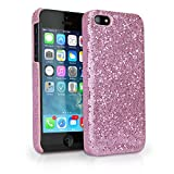 BoxWave Glamour & Glitz Apple iPhone 5 Case - Slim Snap-On Glitter Case, Fun Colorful Sparkle Case for your Apple iPhone 5! - Apple iPhone 5 Cases and Covers (Princess Pink)