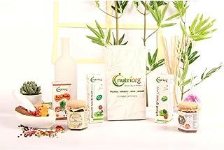 Nutriorg Rejuvenation Health Kit (Vedic Chyawanprash 250g Organic High Altitude Honey 250g, Giloy Neem Tulsi 300 ml, Wheat...