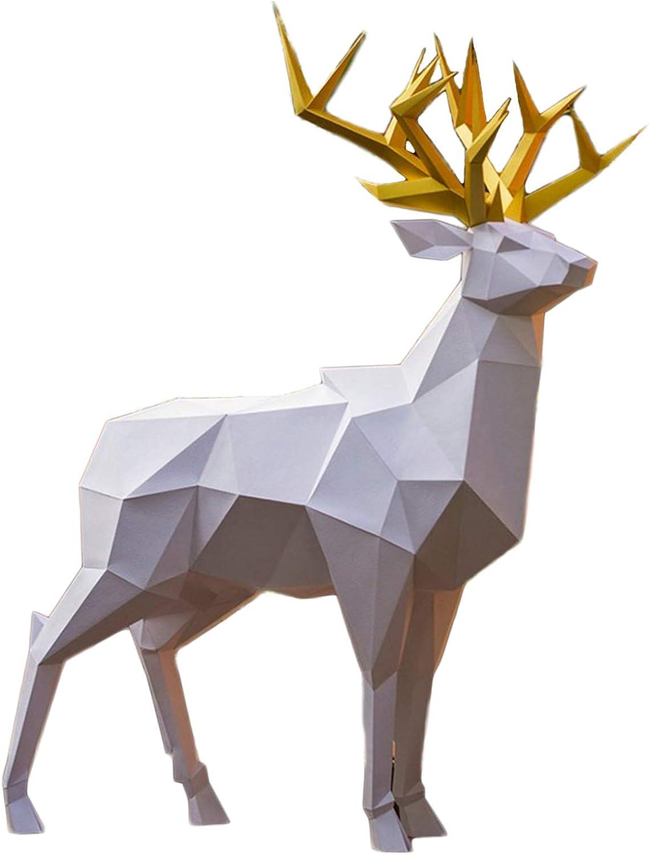 Popular brand in the world WLL-DP Graceful Forest Omaha Mall Deer Paper Sculpture Cra Pre-Cut 3D