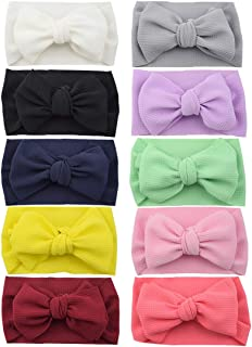 Baby Girl Headbands and Bows- HLIN Soft Nylon Headbands Hair Accessories Set for Toddler Girls
