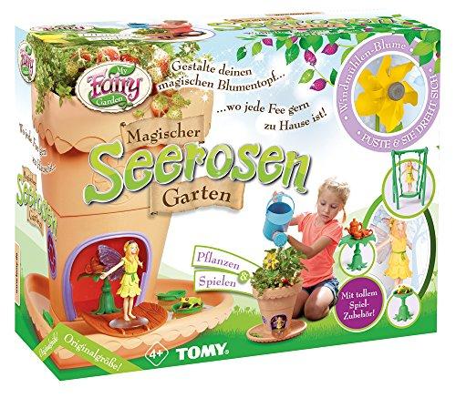 My Fairy Garden speelgoedset, tuin om zelf planten & spelen, magische seerosen-tuin voor kinderen vanaf 4 jaar, incl. graszaden, creatieve set meisjes, speelgoed voor peuters